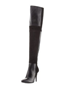 Charles David Over-the-Knee Paneled Suede Boot