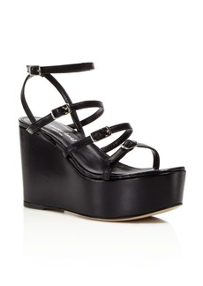 Charles David Penelope Strappy Platform Wedge Sandals