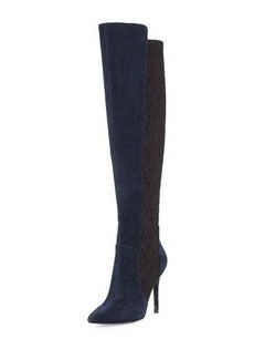 Charles David Persona Leather Over-the-Knee Stretch Boot