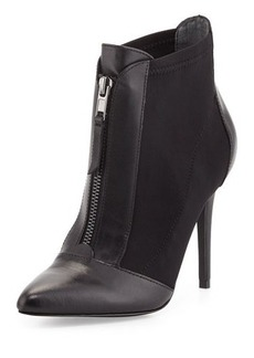 Charles David Piers Mixed-Media Zip-Front Bootie