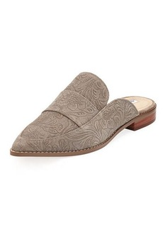 Charles David Porter Paisley Suede Flat Loafer Mule