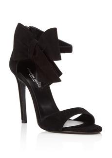 Charles David Precious Suede Bow High Heel Sandals