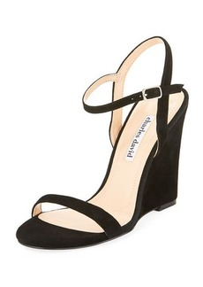 Charles David Queen Ankle-Wrap Wedge Sandal