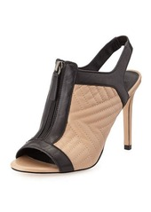 Charles David Quilted Leather Bootie