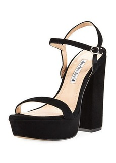 Charles David Regal Leather Platform Sandal