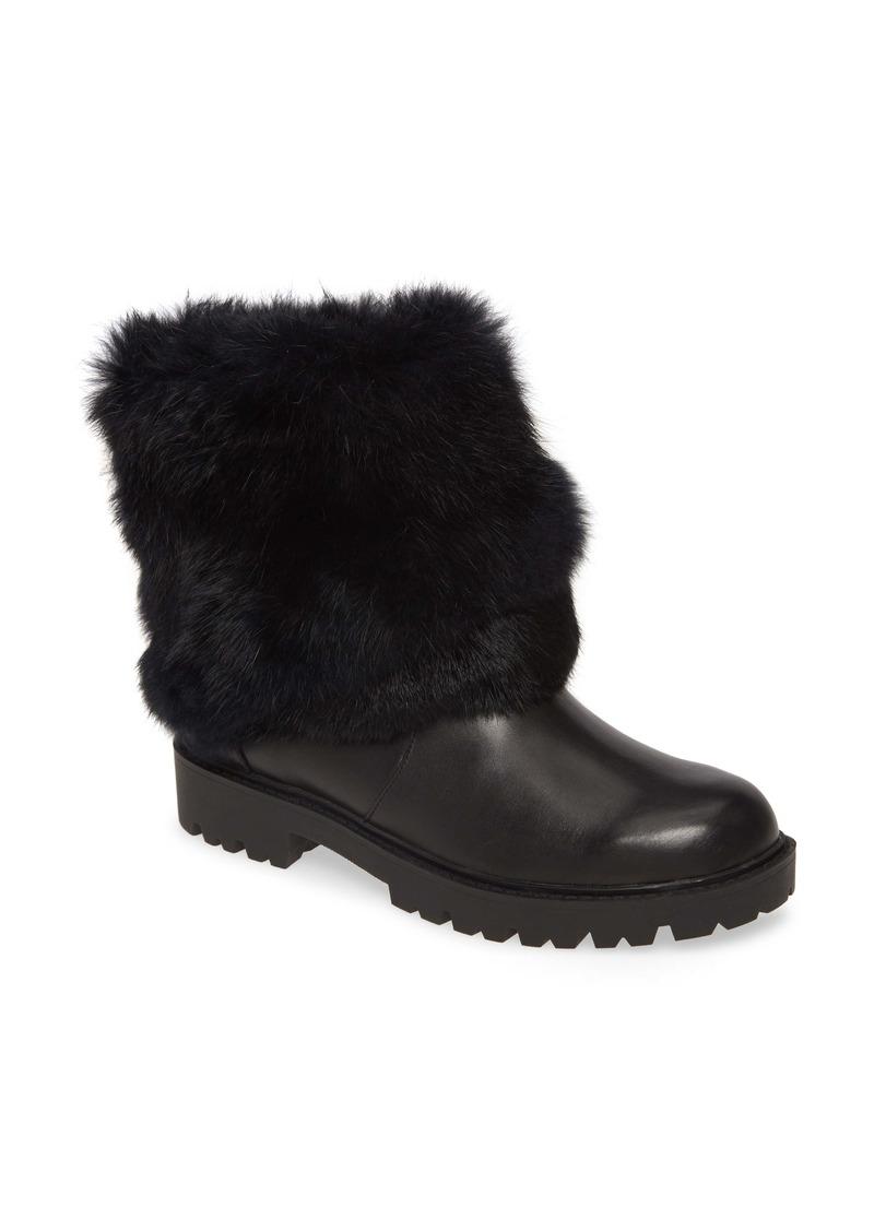 Charles David Render Genuine Rabbit Fur Trim Boot (Women)