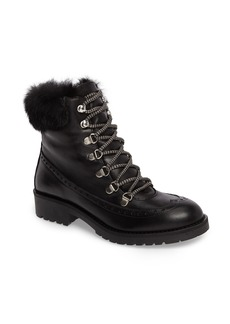 Charles David Rugby Genuine Rabbit Fur Lace-Up Boot (Women)