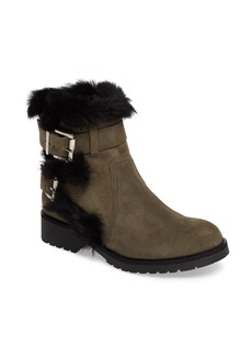 Charles David Rustic Genuine Rabbit Fur Cuff Boot (Women)