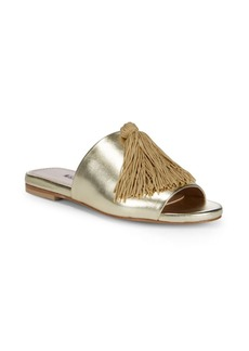Sashay Tassel Leather Slides
