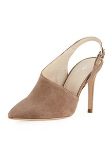 Charles David Sass Asymmetric Suede Pump