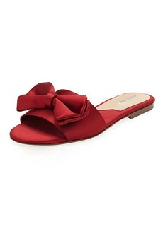 Charles David Satin Slipper Sandal with Bow