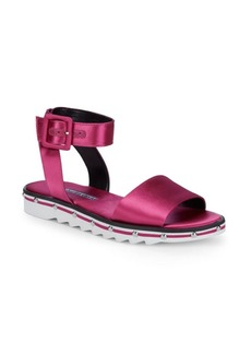 Shimmy Satin Sandals