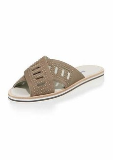 Charles David Sneaky Suede Studded Sandal