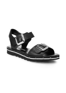 Charles David Spy Footbed Leather Sandals