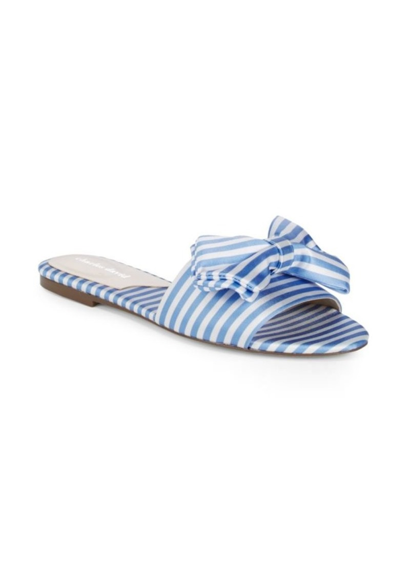 Charles David Striped Bow Slides