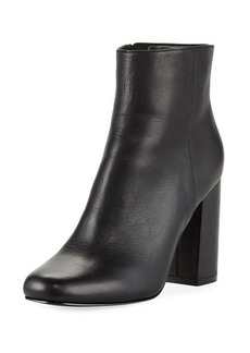 Charles David Studio Leather Side Zip Bootie
