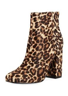 Charles David Studio Leopard Fur Zip Bootie
