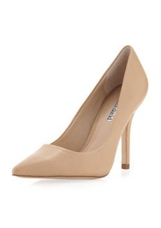 Charles David Sway II Pointy Leather Pump, Camel