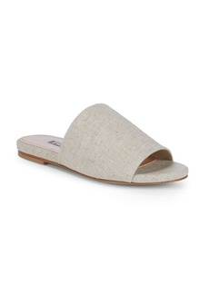 Textured Wide-Strap Slides