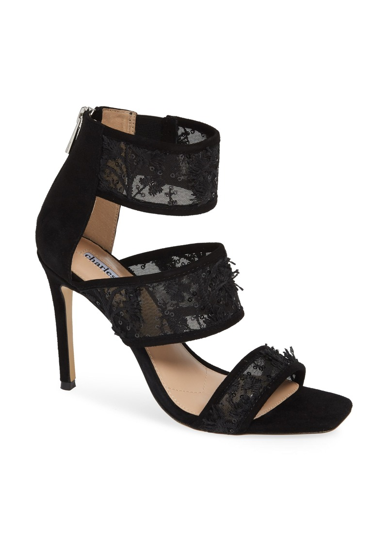 02fe57316f4 Charles David Charles David Vania Lace   Sequin Sandal (Women) Now ...