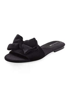 Charles David Velvet Slipper Sandal with Bow