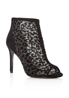Charles David Women's Cathie Leopard Mesh High-Heel Booties