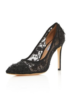 Charles David Women's Chaser Embroidered Mesh Pumps