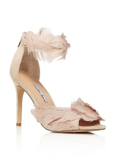 Charles David Women's Collector Feather Embellished High-Heel Sandals