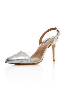 Charles David Women's Daryl Leather & See-Through Slingback Pumps
