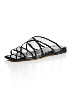 Charles David Women's Drea Strappy Patent Leather Illusion Slide Sandals