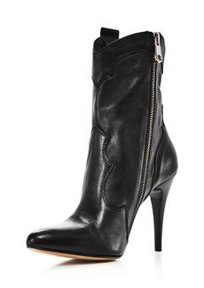 Charles David Women's Kimberly Pointed Toe Leather High-Heel Booties