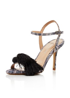Charles David Women's Sassy Jacquard Tassel High Heel Sandals