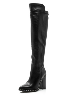 Charles David Women's Shania Studded Leather Tall High-Heel Boots