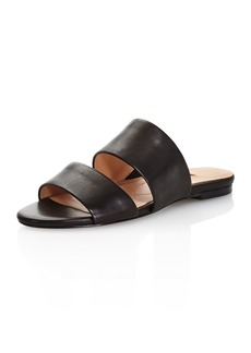 Charles David Women's Siamese Leather Slide Sandals