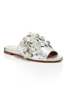 Charles David Women's Sicilian Metallic Leather Embellished Slide Sandals