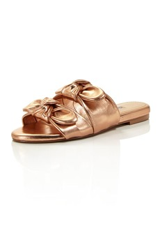 Charles David Women's Souffle Leather Slide Sandals