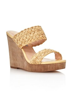 Charles David Women's Tifa Raffia Wedge Sandals