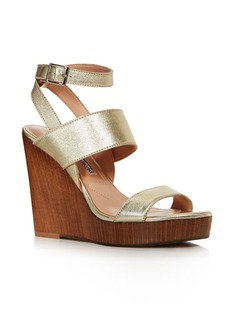 Charles David Women's Turk 2 Leather Wedge Sandals
