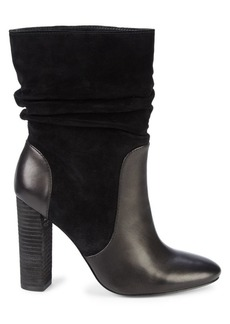 Charles David Indy Slouchy Suede & Leather Booties