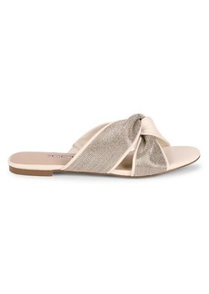 Charles David Kendall Beaded Leather Knotted Slides