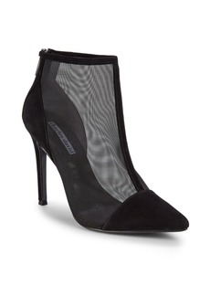 Charles David Mesh Panel Ankle Boots