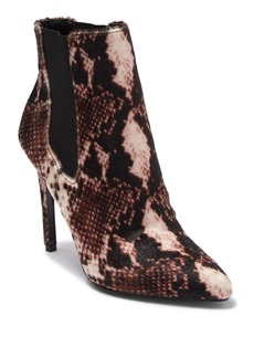 Charles David Panama Faux Fur Snakeskin Print Ankle Boot