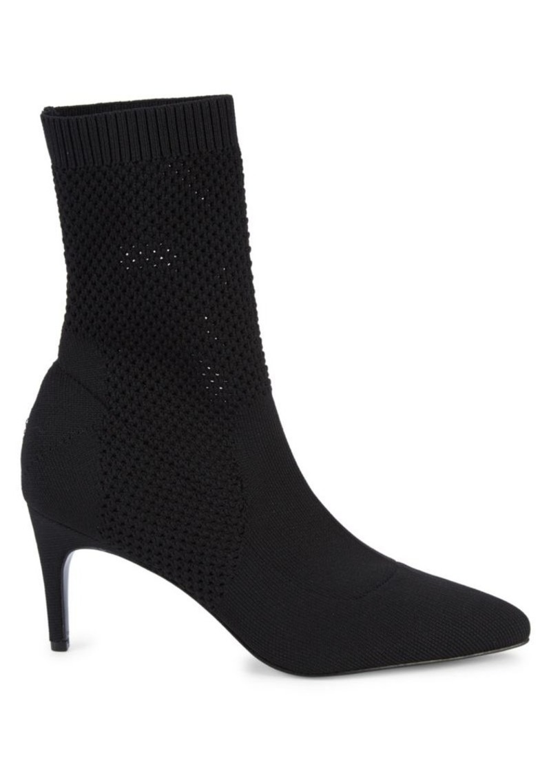 Charles David Prue Marble Knit Sock Booties