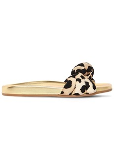 Charlotte Olympia 20mm Dylan Leopard Lycra Slide Sandals