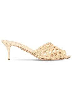 Charlotte Olympia 60mm Woven Raffia Sandals