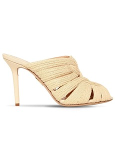 Charlotte Olympia 95mm Woven Raffia Sandals