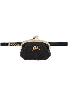 Charlotte Olympia Black Poe Belt Purse