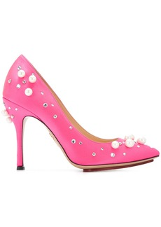 Charlotte Olympia Bacall embellished pumps - Pink & Purple