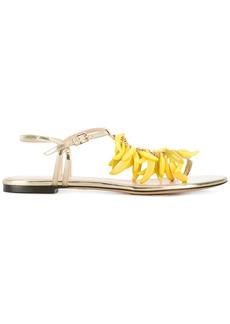 Charlotte Olympia banana embellished sandals - Metallic