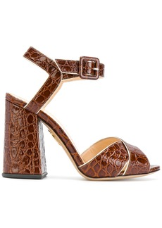 Charlotte Olympia croc effect sandals - Brown
